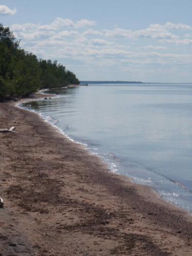 Beach facing West